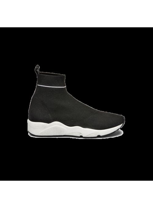 Sneakers chaussettes noires Ovyé