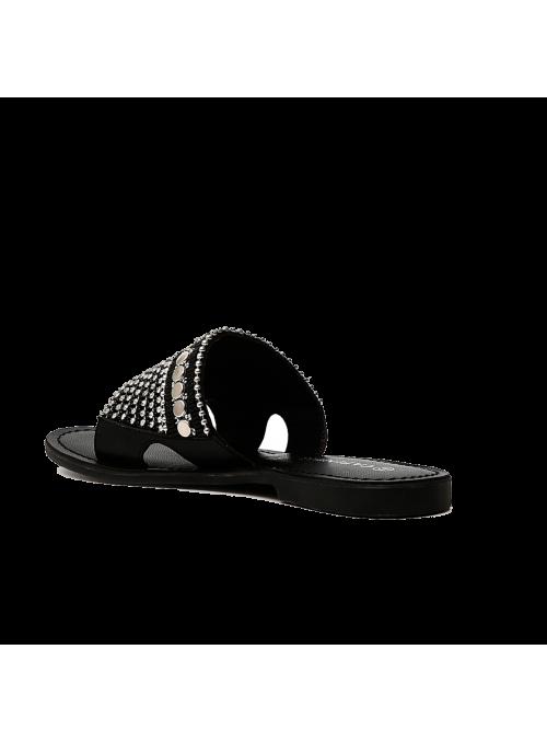Sandales à strass anthracites CAFèNOIR