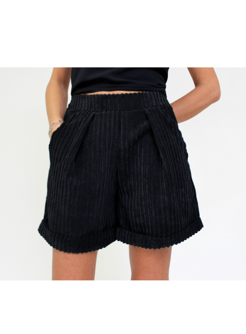 Short en velours noir Please
