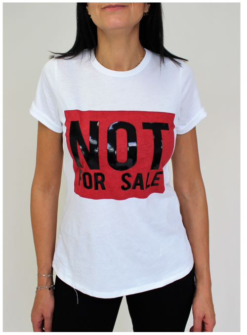 """T-shirt blanc """"Not For Sale"""" Imperial"""