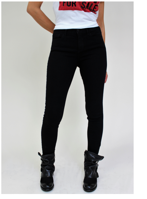 Jean Noir Skinny 5 poches 7/8 Vila