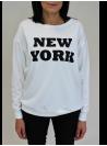 "Sweat Blanc ""New York"" Vila"