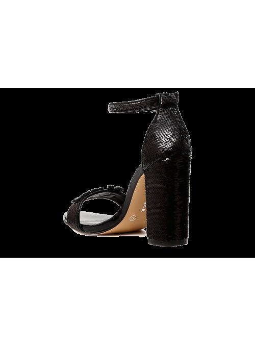 Sandales à sequins argentés Kiss me Cafènoir