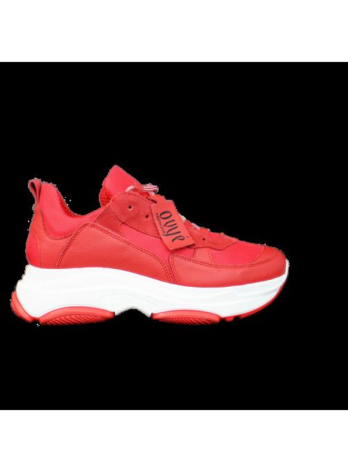 Sneakers à plateformes Rouges Ovyé