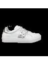 Sneakers Cloutées Blanches et Argent Ovyé