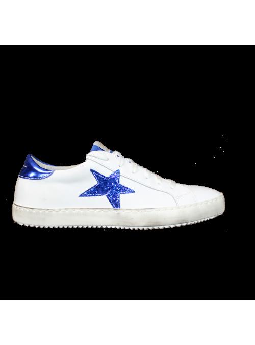 Sneakers Blanches à étoile Bleue Ovyé