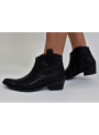 Bottines Texanes en Cuir Noir Ovyé