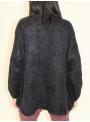 Gilet Oversize Noir en Mohair Imperial
