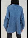 Gilet Oversize Bleu Pétrole en Mohair Imperial