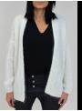 Gilet Oversize Blanc en Mohair Imperial