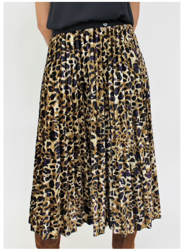 regarder 30d7c aa275 Jupe plissée et imprimée léopard Please