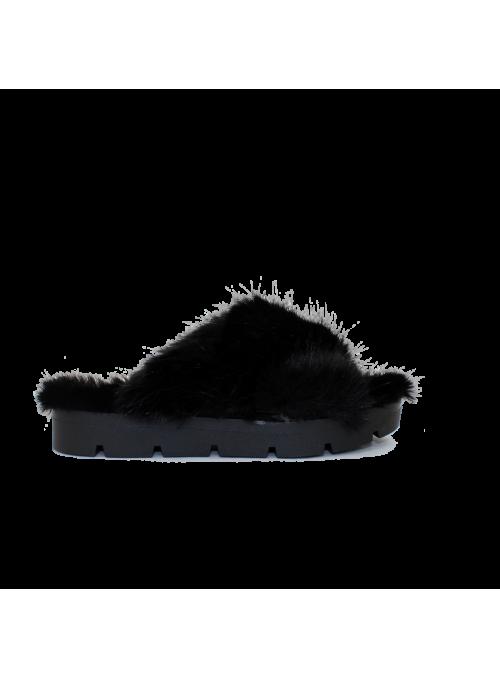Mules Fourrées Noir Ovyé
