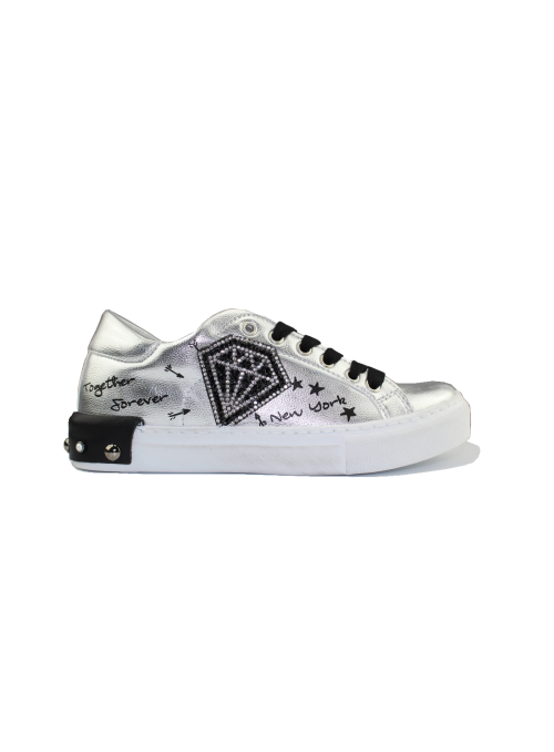 Sneakers Diamante Argento Ovyé