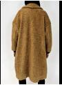 Manteau bouclé en fausse fourrure camel Imperial