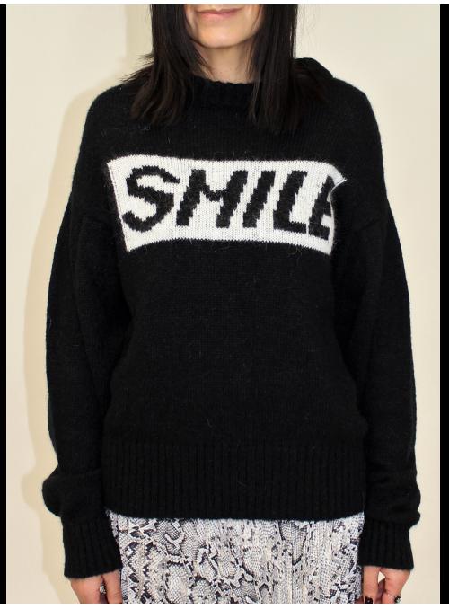 Pull noir Smile mohair Loft
