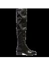 Bottes noires hautes élastiquées et zippées Ovyé