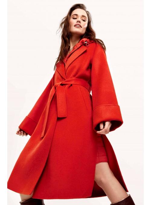 Manteau en laine avec doudoune amovible