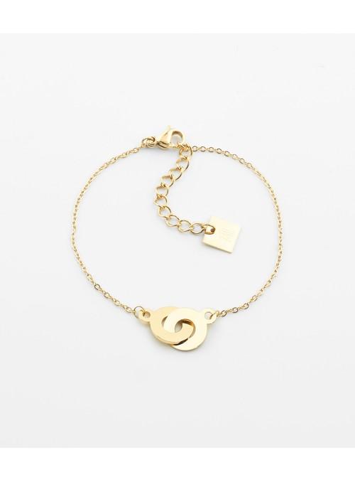 Bracelet Bow – Acier doré