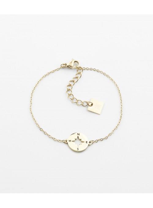 Bracelet Storm – Acier doré