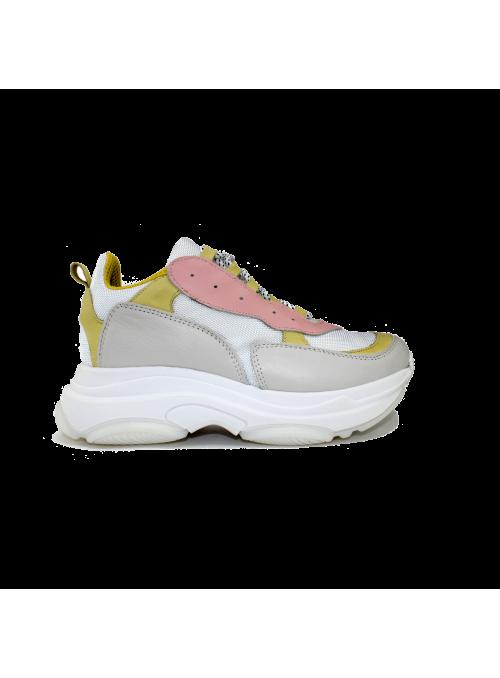 Sneakers rose et jaune 1520 Ovyé