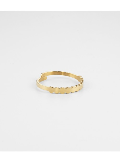 Bague Tribeca – Acier doré