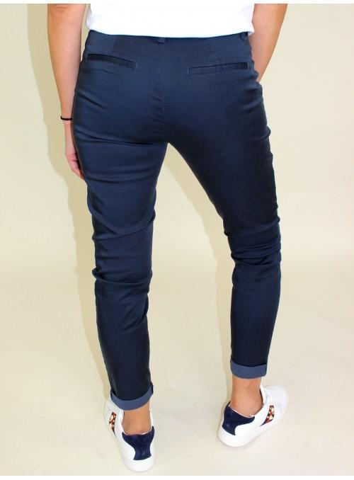 Pantalon Chino 7/8 bleu marine Vila